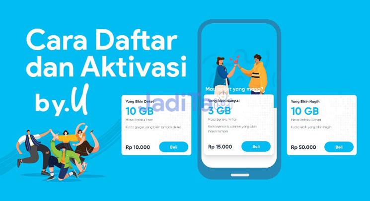 Cara Beli dan Aktivasi Kartu By.U dari Telkomsel